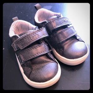 Carters Boys Grey Velcro Shoes Size 5 Toddler